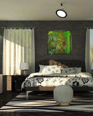 tableau mushroom chambre
