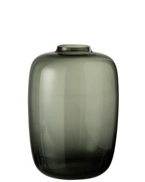 vase cleo verre gris small