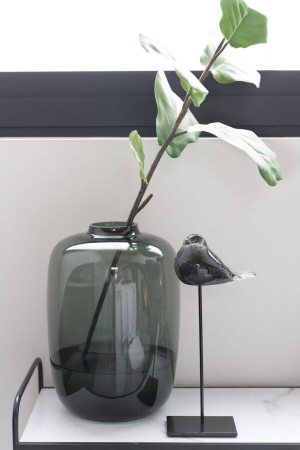 vase cleo verre gris small 1