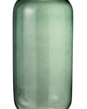 Vase Cylindre Verre Vert L