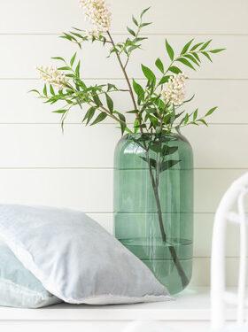 Vase Cylindre Verre Vert 2