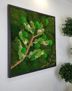 Tableau Végétal Tree Branch 80x80 2